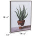 Potted Plant Wood Wall Decor