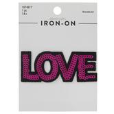 Love Sequin Iron-On Applique