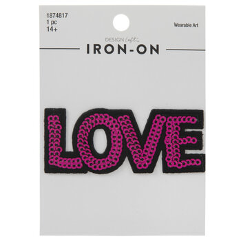 Love Sequin Iron-On Applique