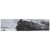 Black & White Train Canvas Wall Decor