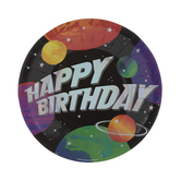 Space Happy Birthday Paper Plates