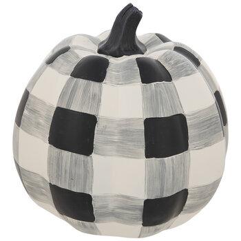 White & Black Buffalo Check Pumpkin
