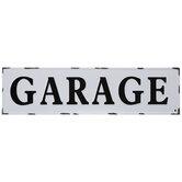 Distressed Garage Metal Wall Decor