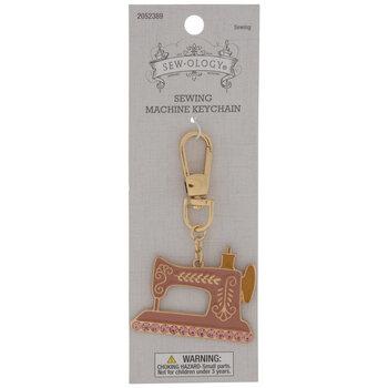Pink Sewing Machine Keychain