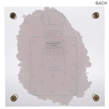With Love XOXO Perfume Floating Wall Decor