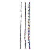 Purple & Blue Iridescent Glass Bead Strands