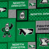 North Dakota Block Fleece Fabric