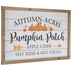 Orange Pumpkin Patch Wood Wall Decor