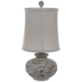 Distressed Gray Marble Lamp