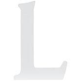 """White Wood Letter - 3 1/2"""""""