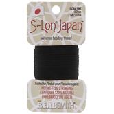 Black S-Lon Japan Beading Thread - 0.2mm