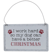 Dog Better Christmas Ornament