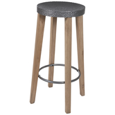 Hammered Metal Bar Stool