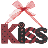 Kiss Wood Ornament