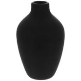 Matte Black Round Mini Vase