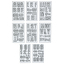 Galvanized Alphabet Stickers