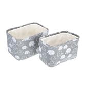 Gray Elephant Canvas Basket Set