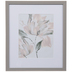 Pink Hibiscus Framed Wood Wall Decor