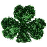 Green Tinsel Shamrock