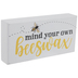 Mind Your Own Beeswax Wood Decor