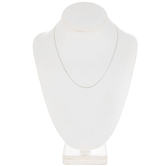Sterling Silver Plated Cable Chain Necklace - 18""