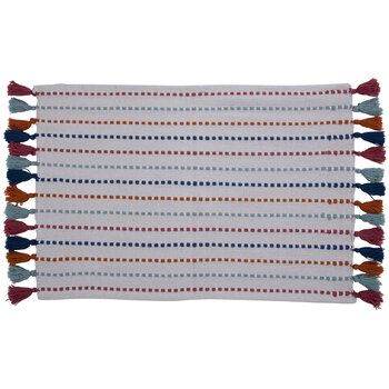 Pink, Blue & Orange Tassel Rug