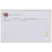 Poinsettia Recipe Cards