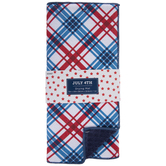 Red, White & Blue Plaid Drying Mat