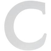 """White Wood Letter C - 6"""""""