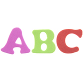 Assorted Alphabet Foam Stickers