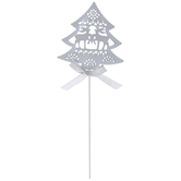 White Christmas Tree Metal Pick