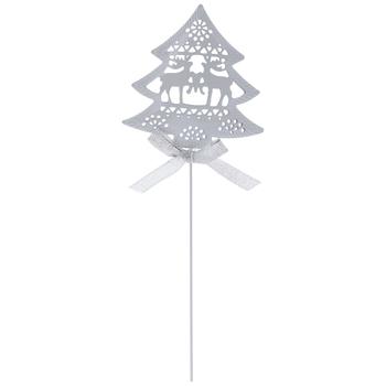 White Christmas Tree Metal Pick