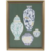 Ginger Jar Vases Framed Wall Decor