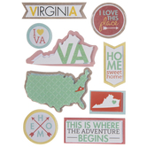 Virginia Icons 3D Stickers