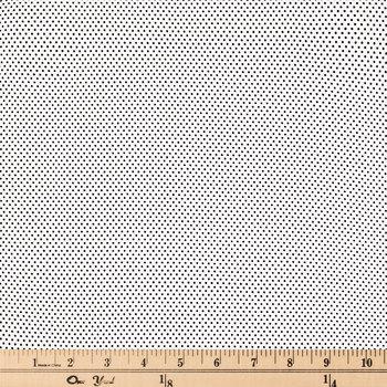 White & Black Polka Dot Cotton Calico Fabric