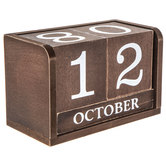 Wood Calendar Blocks