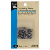 Gunmetal Double-Cap Rivets - 5/16""