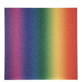 "Glitter Rainbow Scrapbook Paper - 12""x 12"""