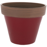 Red Two-Tone Flower Pot - Small