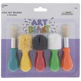 Kids Paint Brushes - 5 Piece Set