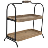 Rustic Two-Tier Wood Tray
