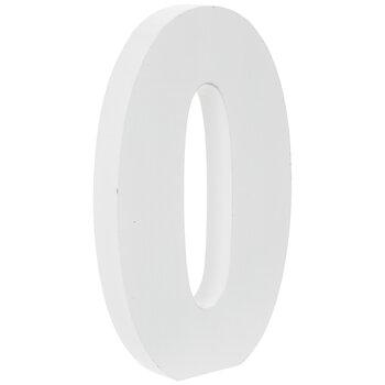 "White Number Wood Decor - 5 1/2"""
