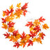 Red & Orange Maple Leaf Garland