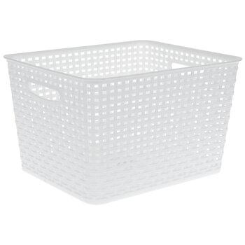 White Rectangle Basket