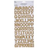 Gold Glitter Cardstock Alphabet Stickers
