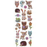 Woodland Friends Puffy Stickers