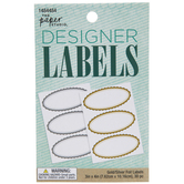 Gold & Silver Foil Designer Labels