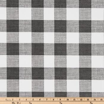 White & Black Buffalo Check Vinyl Fabric