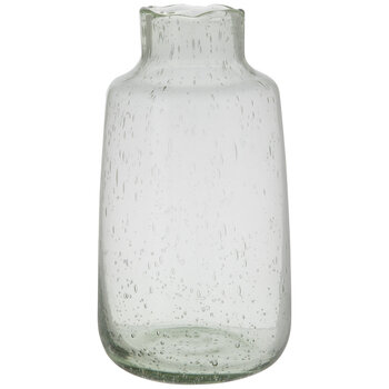 Light Green Glass Vase With Tapered Neck - Tall
