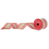 "Stripe & Gingham Wired Edge Ribbon - 2 1/2"""